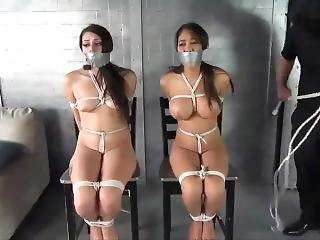 Multiple women bound and gagged