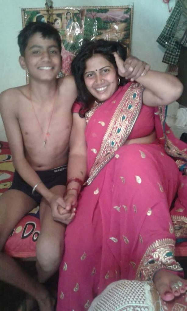Desi mother and son