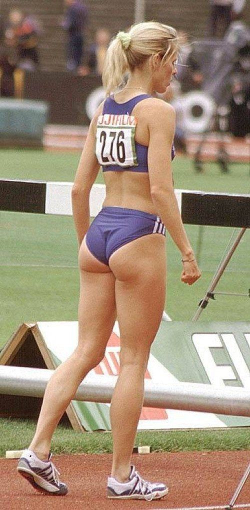 Female track and field booty